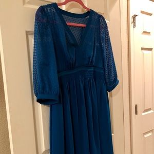 HD Blue dress from Anthropologie